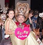 映画『美女と野獣』公開&ハロウィン記念トークイベントに登場した木下優樹菜(左)とFUJIWARAの藤本敏史
