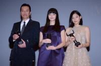 (左から)遠藤憲一、小松菜奈、石井杏奈