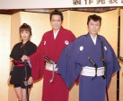 (左から)夏菜、村上弘明、高橋克典