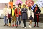 (左から)矢柴俊博、山谷花純、中村嘉惟人、西川俊介、松本岳、矢野優花、笹野高史