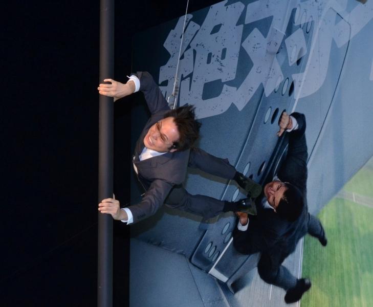 トム・クルーズのアクションを再現した井上裕介
