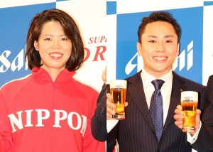 星奈津美選手(左)と太田雄貴選手
