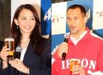 田中理恵さん(左)と室伏広治選手