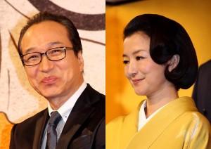 豊臣秀吉役の小日向文世(左)と北政所役の鈴木京香