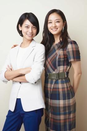 相武紗季(左)と中越典子