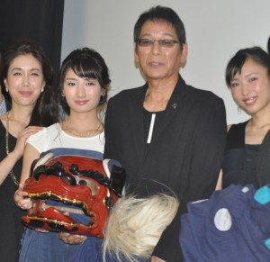 (左から)筒井真理子、武田梨奈、大杉漣、黒川芽以