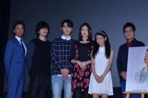 (左から)原作者の新堂冬樹氏、久保田悠来、チャンソン、大野いと、村山優香、ハン・サンヒ監督