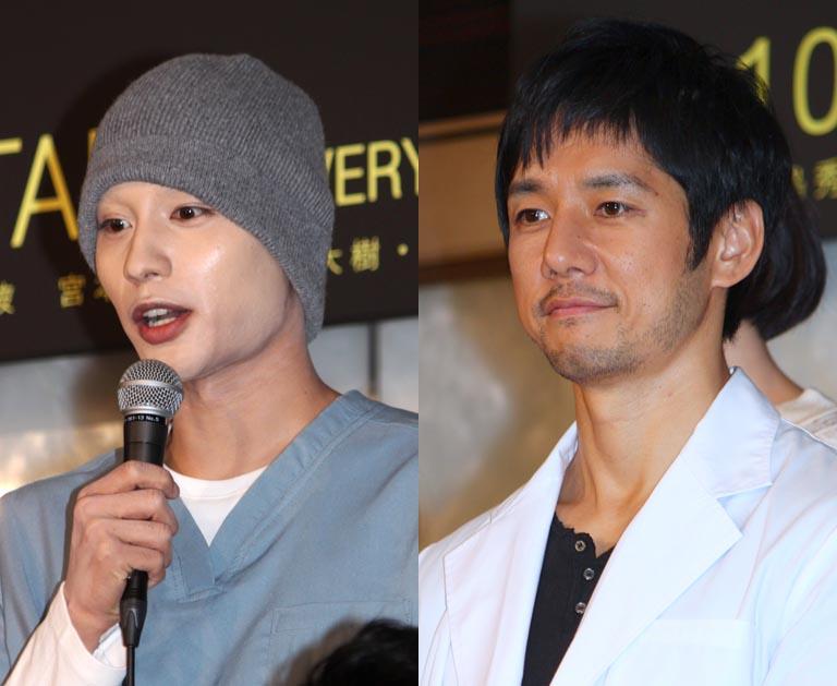 中村蒼(左)と西島秀俊