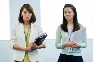 豊島杏役の相武紗季(左)と原田美樹役の中越典子