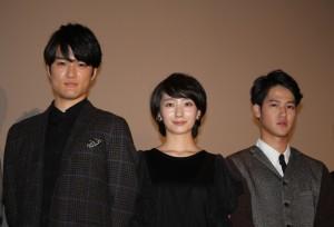 (左から)入江甚儀、波瑠、葉山奨之
