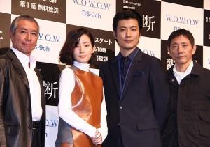 (左から)柳葉敏郎、蓮佛美沙子、玉山鉄二、小林薫
