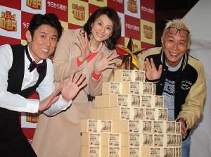 (左から)原田泰造、米倉涼子、所ジョージ