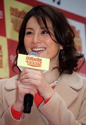 宝くじが当選した場合の夢を語った米倉涼子
