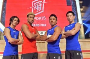 (左から)佐野岳、関口メンディ、魔裟斗、高畑裕太