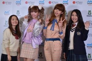 (左から)椎木里佳、藤田ニコル、池田エライザ、井上苑子