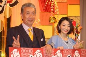 高田純次(左)と眞鍋かをり