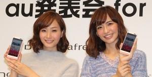 藤本美貴(左)と優木まおみ