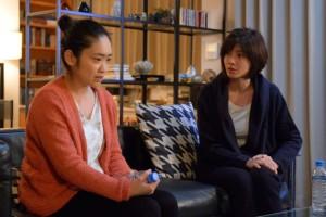 池脇千鶴(左)と内田有紀