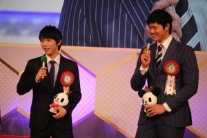 羽生結弦選手(左)と大谷翔平選手