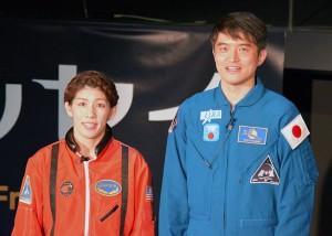 吉田沙保里選手とJAXA宇宙飛行士の大西卓哉氏