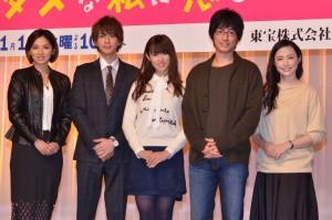 (左から)野波麻帆、三浦翔平、深田恭子、DEAN FUJIOKA、ミムラ