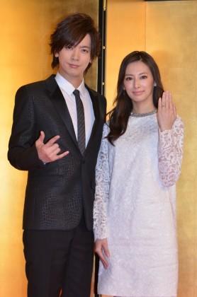 そろって結婚会見を開いたDAIGO(左)と北川景子