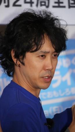 「『真田丸』の会見にお越しいただきありがとうございます」とあいさつした大泉洋