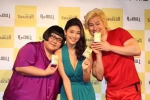 (左から)安藤なつ、橋本マナミ、カズレーザー
