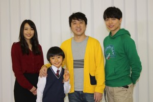 (左から)黒川芽以、子役の大西利空、ムロツヨシ、山崎育三郎