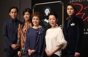 (左から)川久保拓司、彩輝なお、大竹しのぶ、梅沢昌代、伊礼彼方