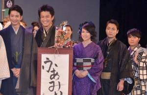(左から)向井理、小栗旬、柴咲コウ、山田孝之、濱田岳