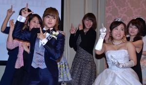 オリジナルダンスを踊るキンタロー。と菊地亜美