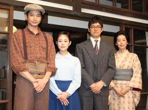 (左から)向井理、高畑充希、西島秀俊、木村多江