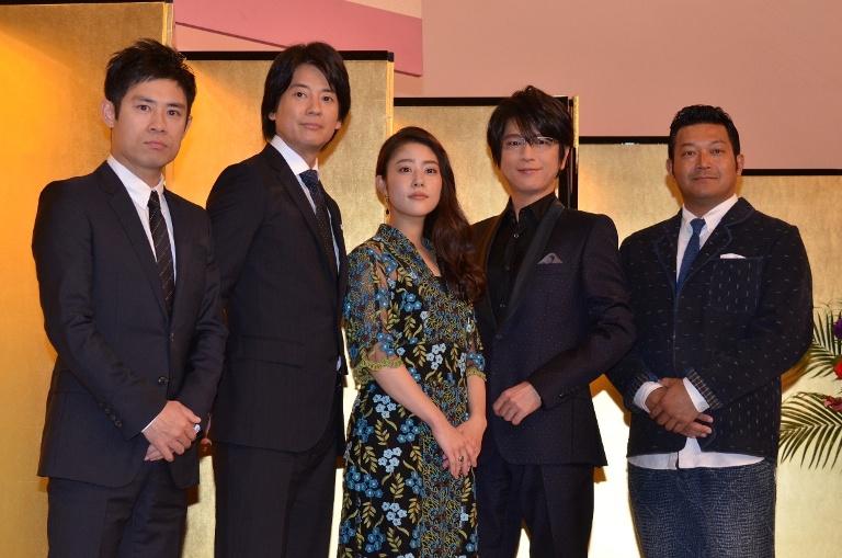 (左から)伊藤淳史、唐沢寿明、高畑充希、及川光博、山口智充
