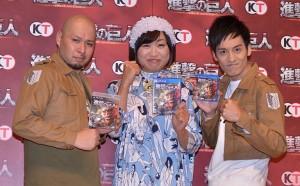 (左から)大江健次、山崎静代、村田秀亮