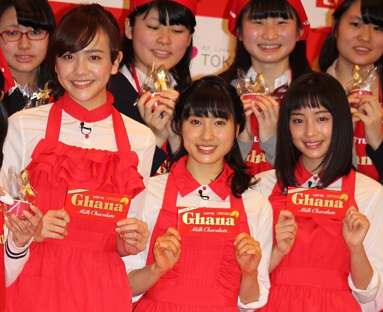 (左から)松井愛莉、土屋太鳳、広瀬すず