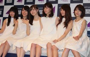 (左から)伊藤万理華、生田絵梨花、白石麻衣、西野七瀬、桜井玲香、若月佑美