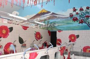 東京・墨田区の銭湯・大黒湯に施された蜷川実花さんデザインの内装