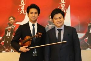 三浦文彰氏(左)と辻井伸行氏