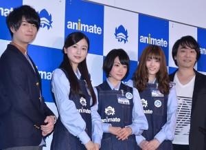 (左から)斉藤壮馬、佐々木琴子、生駒里奈、松村沙友理、関智一