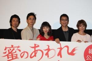 (左から)永瀬正敏、高良健吾、二階堂ふみ、大杉漣、真木よう子