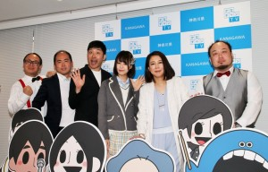 (左から)トレンディエンジェル、あべこうじ、三田麻央、椿鬼奴、アホマイルド坂本