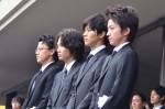 蜷川幸雄さんを見送る(左から)小栗旬、綾野剛、松坂桃李、藤原竜也