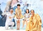(左から)たかし、本田望結、本田紗来、斎藤司