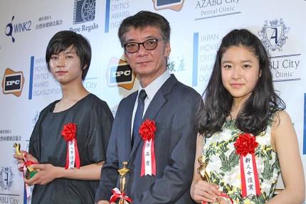 (左から)板垣瑞生、成島出監督、藤野涼子