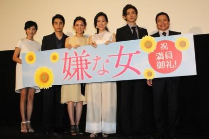 (左から)黒木瞳監督、中村蒼、吉田羊、木村佳乃、古川雄大、ラサール石井