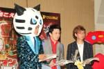 (左から)あばれる君、市川染五郎、山寺宏一