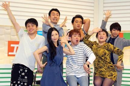 (前列左から)壇蜜、濱口優、バービー、(後列左から)井上裕介、田中卓志、斉藤慎二、須賀健太