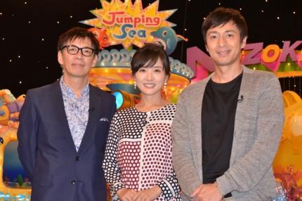 (左から)生瀬勝久、高島彩アナウンサー、徳井義実