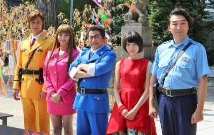 (左から)ユージ、原幹恵、ラサール石井、生駒里奈、池田鉄洋